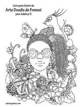 Livro para Colorir de Arte Doodle de Frenesi para Adultos 3