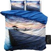 Sleeptime Bridge Beach - Dekbedovertrekset - Lits-Jumeaux - 240x200/220 + 2 kussenslopen 60x70 - Multi