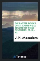 The Baxter Books of St. Andrews