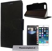 iPhone 5C Wallet Boek Case Lederen Hoesje Zwart