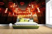 Chinese straat met lampionnen Fotobehang 380x265