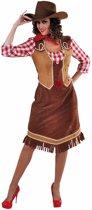 Wilde Westen Cowgirl jurk   Carnavalskleding dames maat XL (46-48)