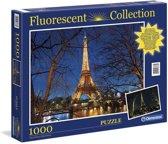 Clementoni fluoriscerende puzzel eiffeltoren 1000 stuks