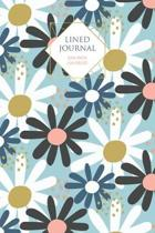 Blue Floral Lined Journal: 100 Page Lined Journal - 6x9 inch