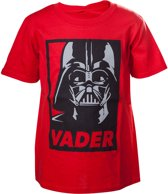 Star Wars - Kinder Shirt Rood ' Darth Vader' - 110/116