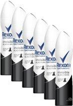 Rexona Deodorant spray Black & White Diamond 6 x 150 ml