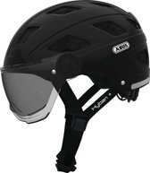 ABUS Helm Hyban + Smoke Visor Black