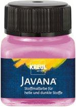 Javana roze textielverf 20ml – Voor licht en donker gekleurd textiel