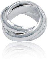 Classics&More Zilveren Ring - Maat 56 - 6 mm - Cartier