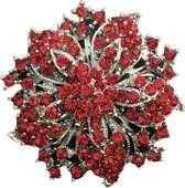 Broche rood bloem