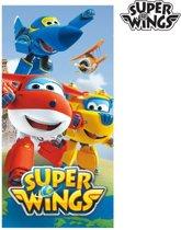 Super Wings Blauwe Strandhanddoek