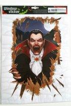 Halloween Raamsticker Dracula
