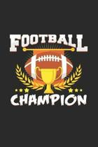Football champion: 6x9 Football - blank with numbers paper - notebook - notes