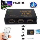 HDMI 4K Switch Splitter Inclusief Afstandsbediening 1080P 4K 3 Poorts