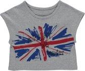 Losan Meisjes Shirt Grijs met opdruk - H56 - Maat 128
