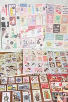 Vintage stickers - Set met 24 stickervellen