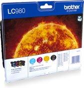Brother LC-980VALBP - Inktcartridges / Zwart / Cyaan / Magenta / Geel