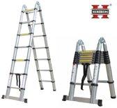 HERZBERG Telescopische Ladder 5m60 voor klussers