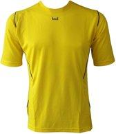 KWD Sportshirt Mundo - Voetbalshirt - Kinderen - Maat 116 - Geel/Zwart