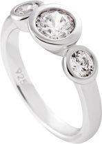 Diamonfire - Zilveren ring met steen Maat 17.5 - Zirkonia - Rond