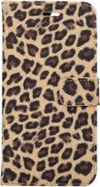 Mobigear Wallet Book Case Leopard Brown iPhone 7 Plus / 8 Plus