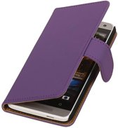 Wicked Narwal   bookstyle / book case/ wallet case Hoes voor HTC One mini M4 Paars