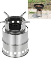 Outdoor Camping Tall Stainless Steel Wood-burning Stove Solid alcohol Stove for Picnic Heating