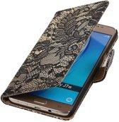 Bloem Bookstyle Hoesje voor Samsung Galaxy J7 (2016) Zwart