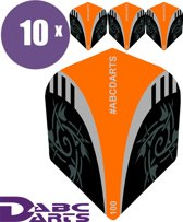 ABC Darts Flights - Extra Stevig - Tribal Oranje - 10 sets (30 stuks Dart Flights)