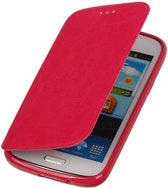 Polar Map Case Roze Samsung Galaxy S4 TPU Bookcover Hoesje
