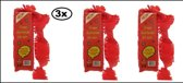 3x Crepe guirlande brandveilig rood 24m