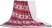 In The Mood - Winter / Sherpa - Plaid - 130x180 cm -  Rood