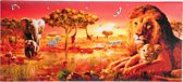 Diamond Painting Crystal Art Kit ® Safari Sunset 40x90 cm, Partial Painting