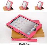 Apple iPad 2;Apple iPad 3;Apple iPad 4 Smart Tablethoes Roze voor bescherming van tablet