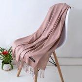 Sjaal Dames Cashmere 200*65cm - Nude - Kasjmir Omslagdoek Scarf