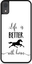 iPhone Xr Hardcase hoesje Life is Better with Horses