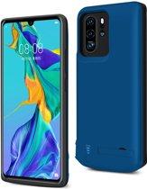 Lunso - Battery Power Case hoes - Huawei P30 Pro - 5000 mAh - Blauw
