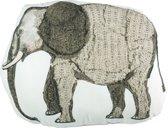 Beddinghouse Kids Elephant - sierkussen - 45x55 cm - Grijs