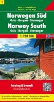 FB Noorwegen blad 1,  Zuid • Oslo • Bergen • Stavanger