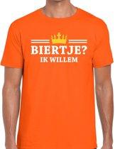 98769102840d58 Oranje Biertje ik willem t-shirt heren - Oranje Koningsdag kleding