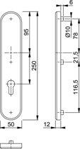 Hoppe Langschild 3235 250X50Zkrg Pc72 F1 3*