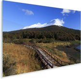 Mooie blauwe lucht boven Nationaal park Tierra del Fuego Plexiglas 60x40 cm - Foto print op Glas (Plexiglas wanddecoratie)