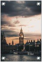 Tuinposter Big Ben - Londen 80x120cm- Foto op Tuinposter (wanddecoratie voor binnen en buiten)