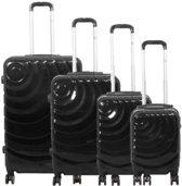 4 delig koffer set Polycarbonate Pisa antraciet