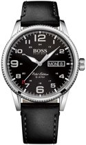 Hugo Boss HB1513330 Pilot Horloge - Leer - Zwart - Ø44 mm