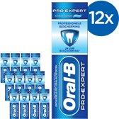 Oral B Pro-Expert  Professionele Bescherming - Voordeelverpakking 12x75 ml - Tandpasta