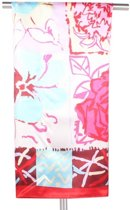 Rode Dames Sjaal Bloemenprint 90 x 90cm - Shawl