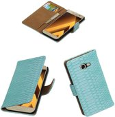 Turquoise slang design bookcase voor Samsung Galaxy A5 2017 hoesje