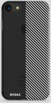 BOQAZ. iPhone 7 hoesje - schuine strepen wit