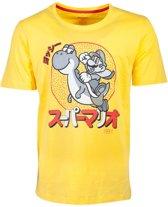 Nintendo Super Mario Heren Tshirt -2XL- Yoshi Geel